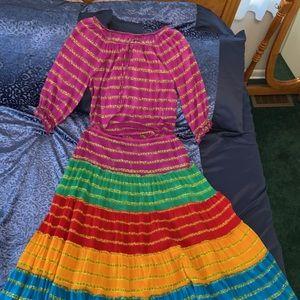 Ralph Lauren 2 Piece Top & Tiered Skirt